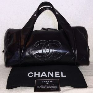 """Authentic Chanel """"All Day Bowler"""" Calfskin Purse"""
